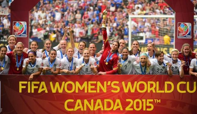 USA Winners of 2015 Fifa Women's Football World cup