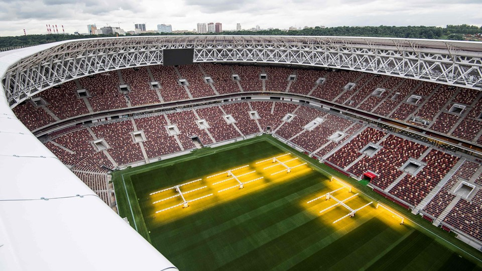 Luzhniki Stadium of Fifa world cup 2018 full view