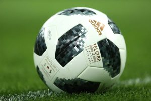 Adidas Telstar 18 ball on ground wallpaper