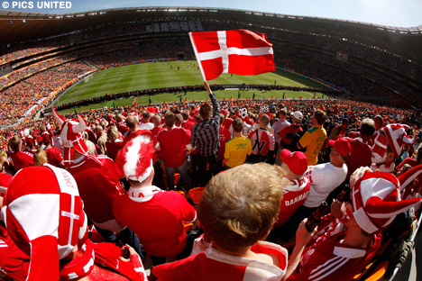 Denmark Fans ready to cheer thier nation in world cup 2018