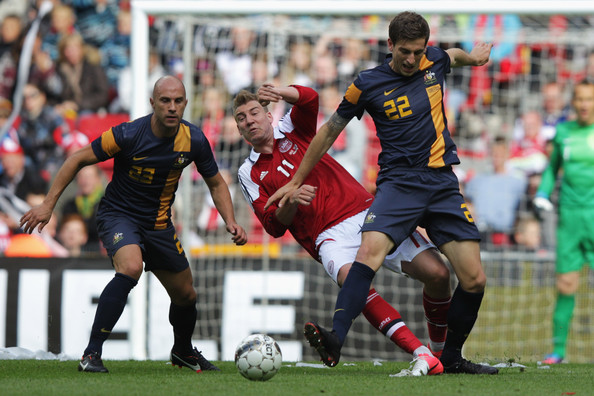 Denmark vs Australia football game