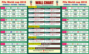 Download Fifa world cup 2018 Free wallchart to track all 64 Matches fixtures