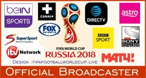 Fifa world cup 2018 TV broadcaster