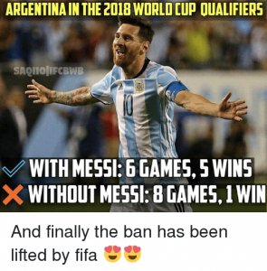 Football world cup 2018 funny memes with messi images
