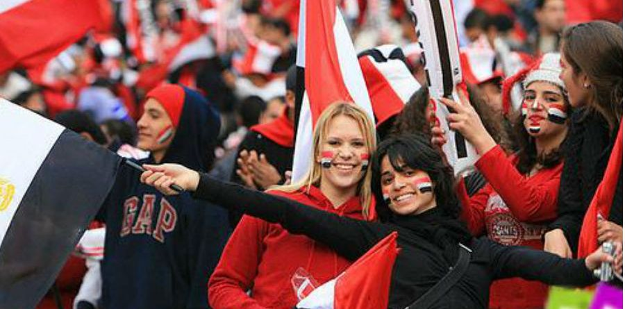 Egypt team football fans