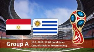 Group A Clash of Egypt vs Uruguay on 15 June 2018 HD image