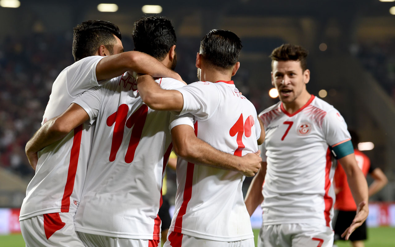 Tunisia players in fifa world cup