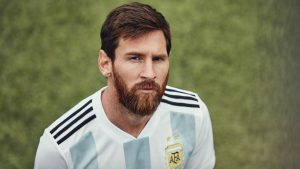 argentina jersey for world cup with messi picture