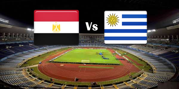 egypt vs uruguay hd photos with both team flag