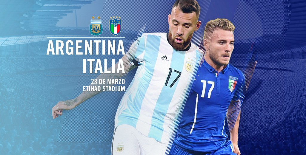 Argentina vs Italy 23 March Friendly game wallpaper