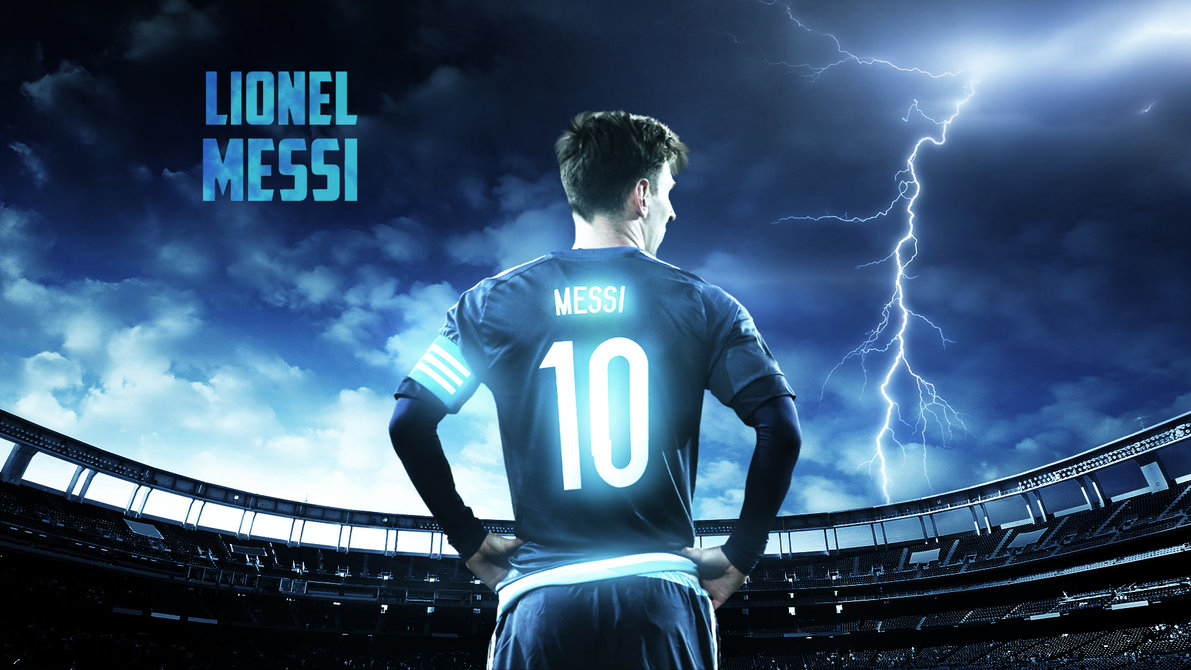 Awesome Blue color Messi images