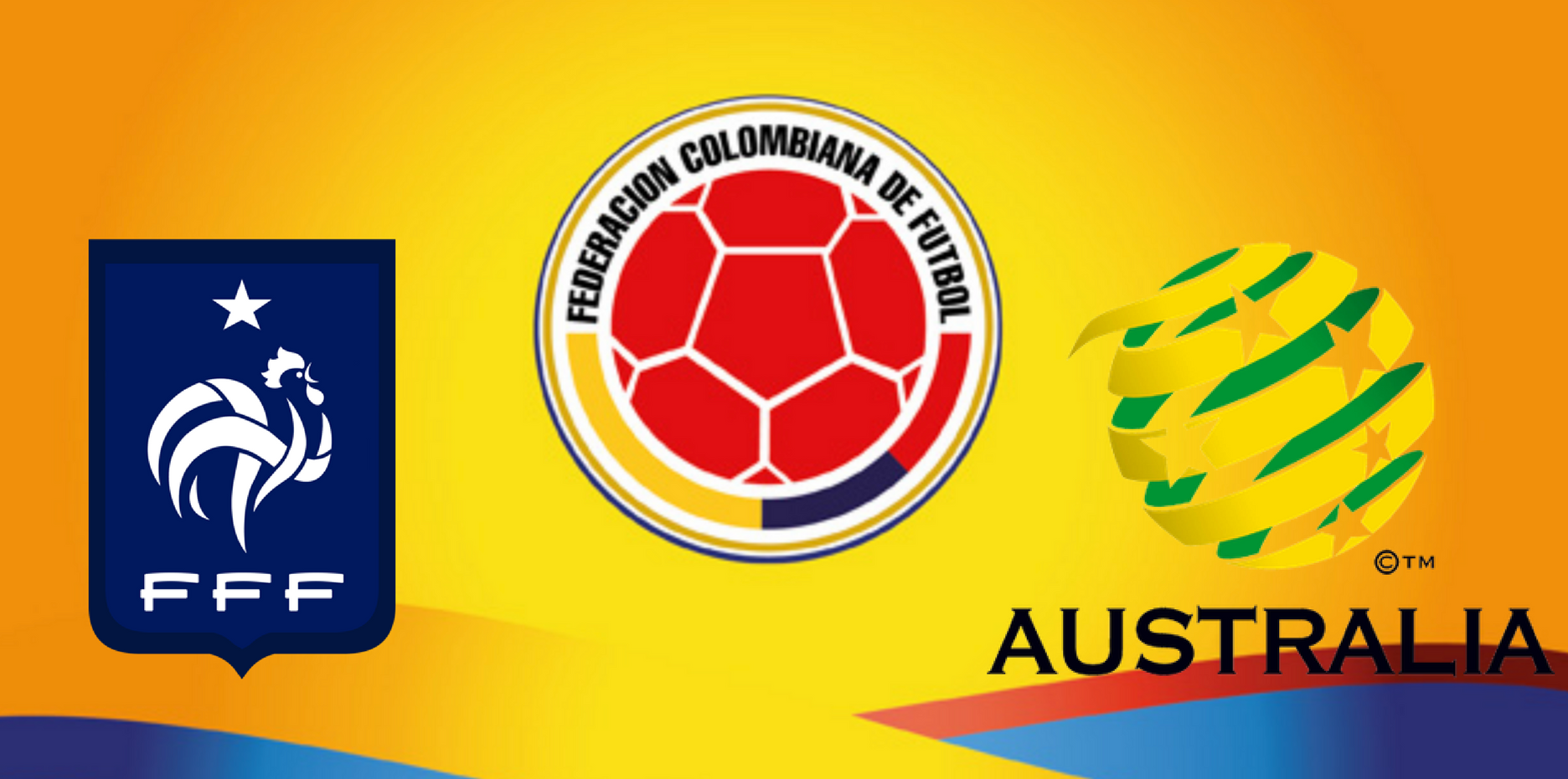 Colombia vs Australia football game