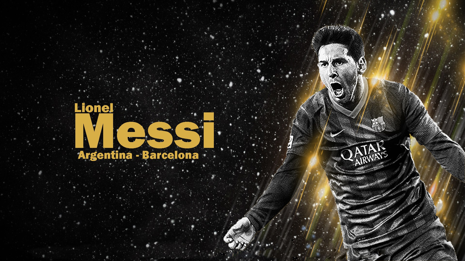 Dark Background Lionel Messi wallpaper