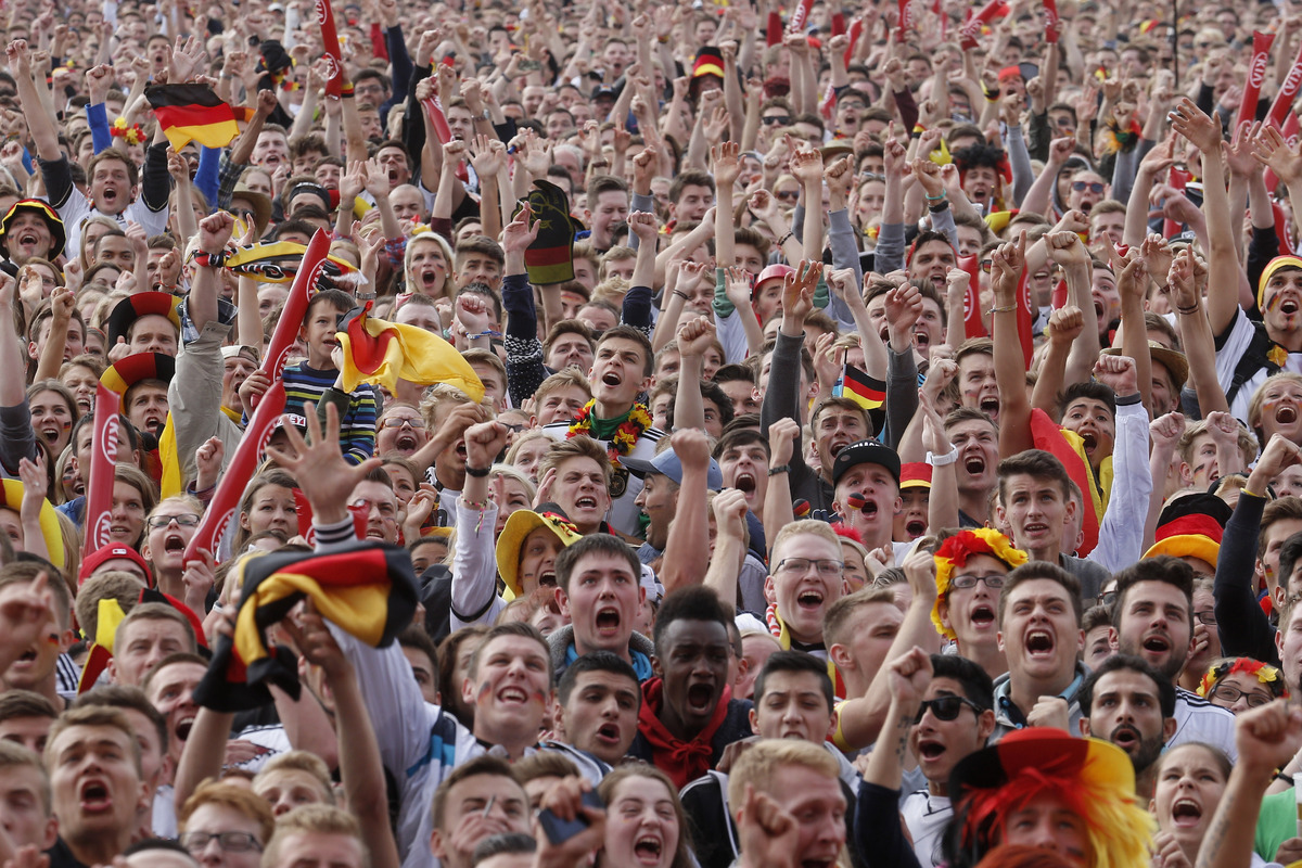 Germany Fans cheering their country in football match