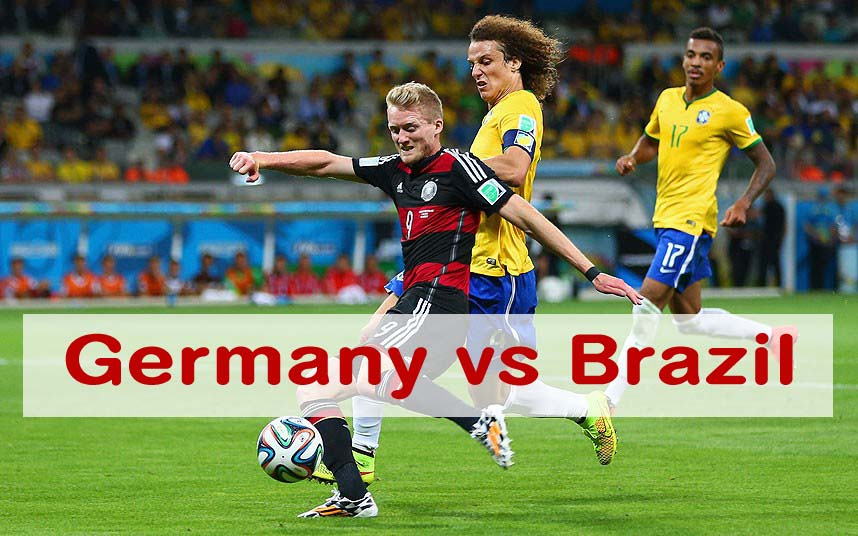 Germany vs Brazil worldwide kick off time