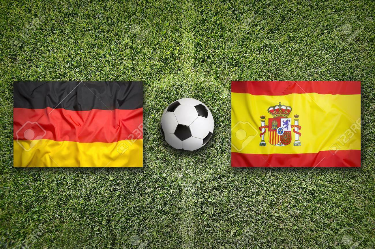 Germany vs Spain HD wallpaper with flag