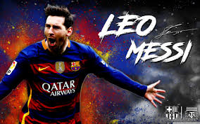 Lionel Messi of Barcelona Widescreen Wallpaper in High definition