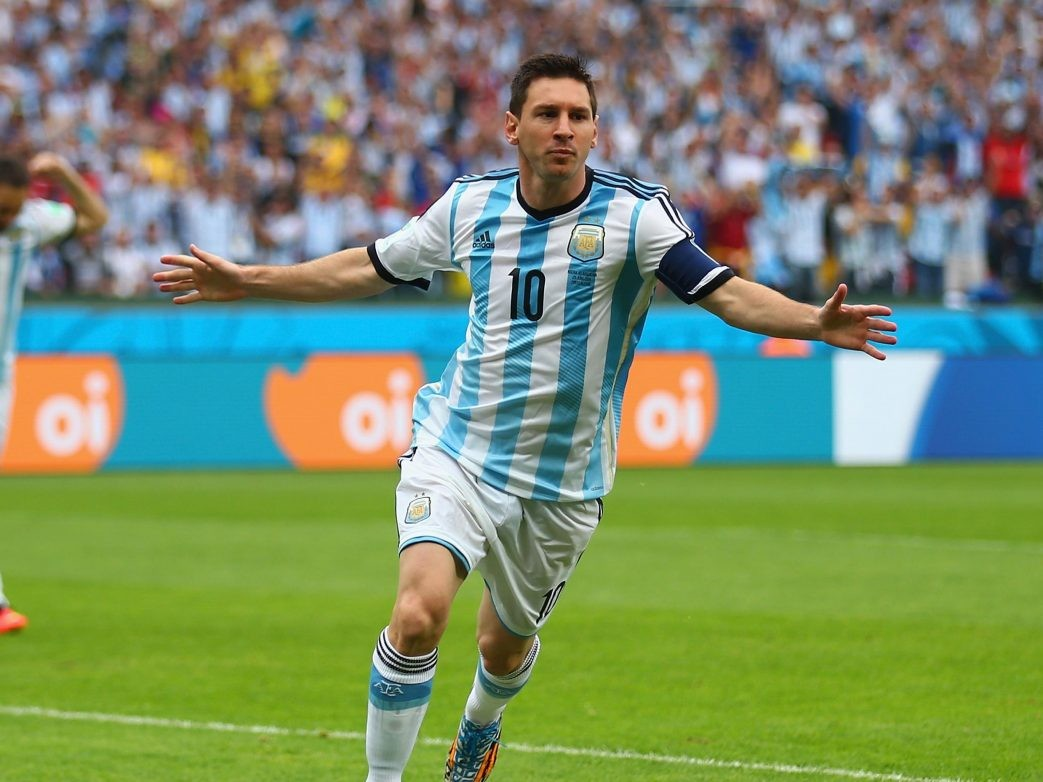 Messi in football ground