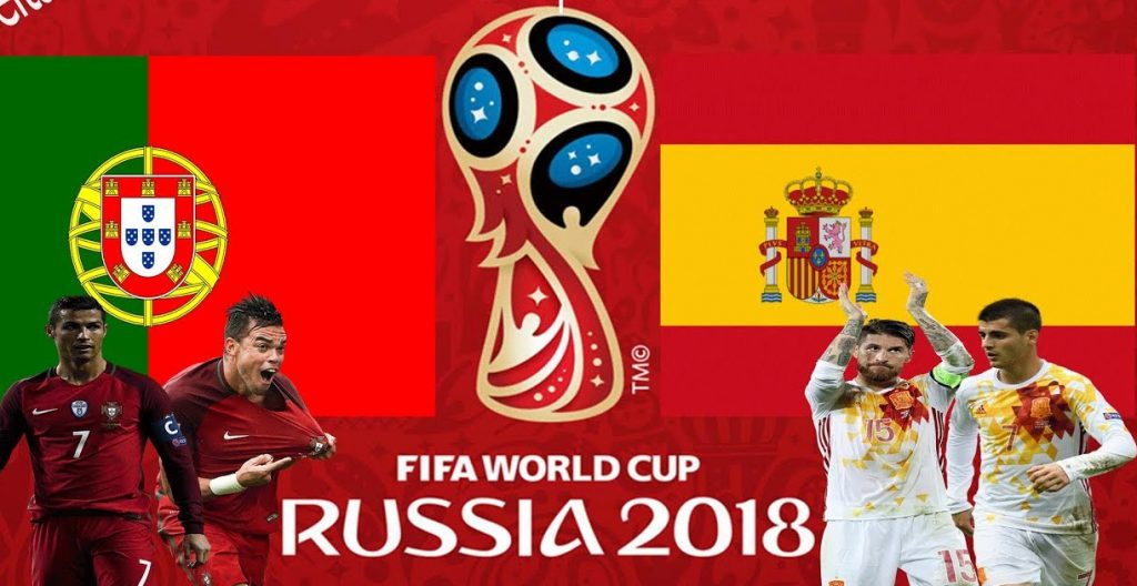 Portugal vs Spain 2018 world cup football Game of 15 June