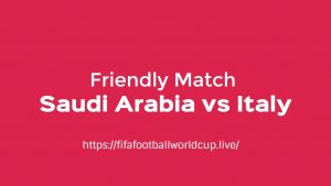 Saudi Green Falcon to Face italy in friendly ahead of world cup