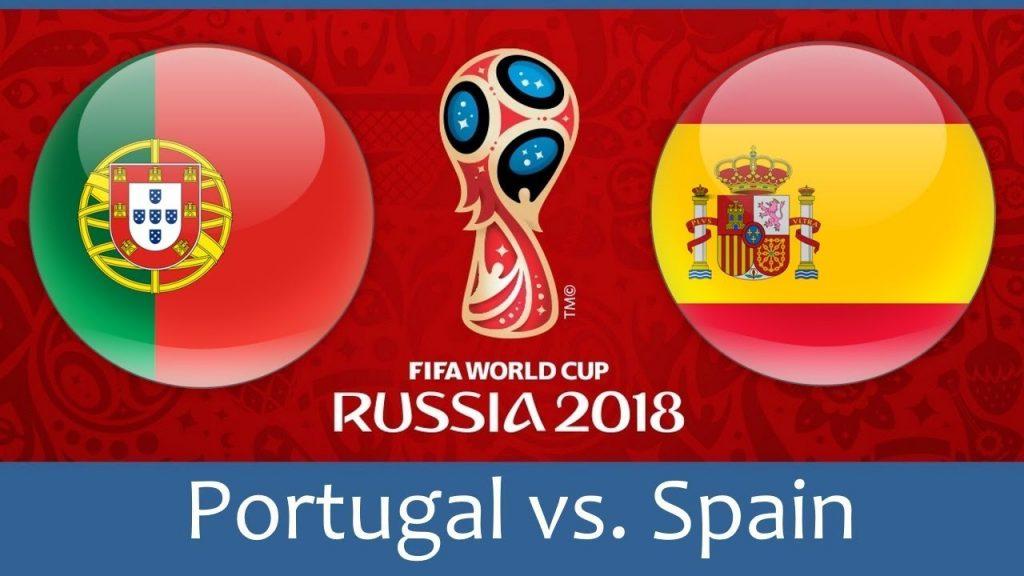 portugal vs spain hd photos with both team flag