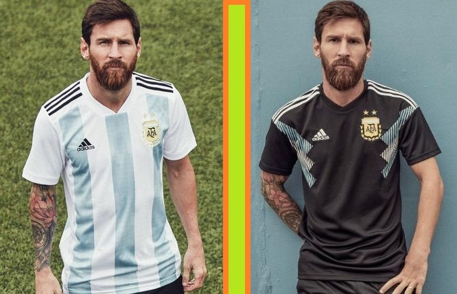 Argentina home and away kits - jersey for world cup 2018