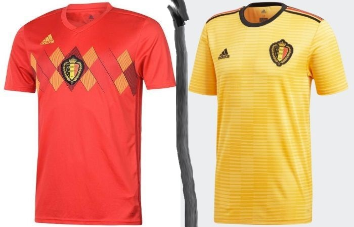 Belgium home and away kits - jersey for world cup 2018