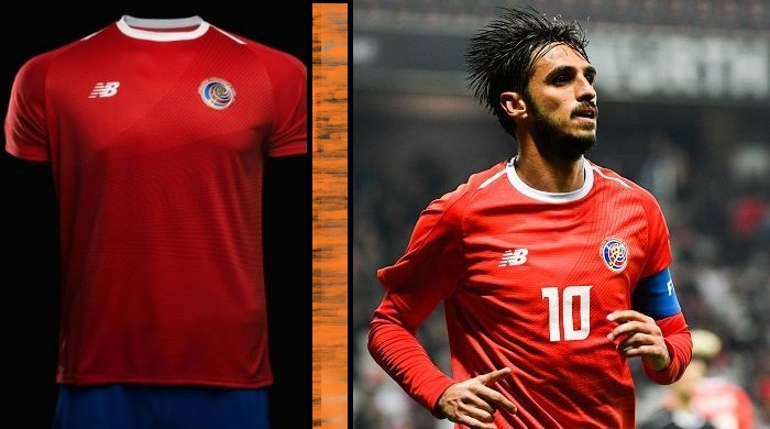 Costa Rica home and away kits - jersey for world cup 2018