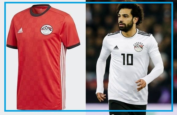 Egypt home and away kit - jersey for world cup 2018