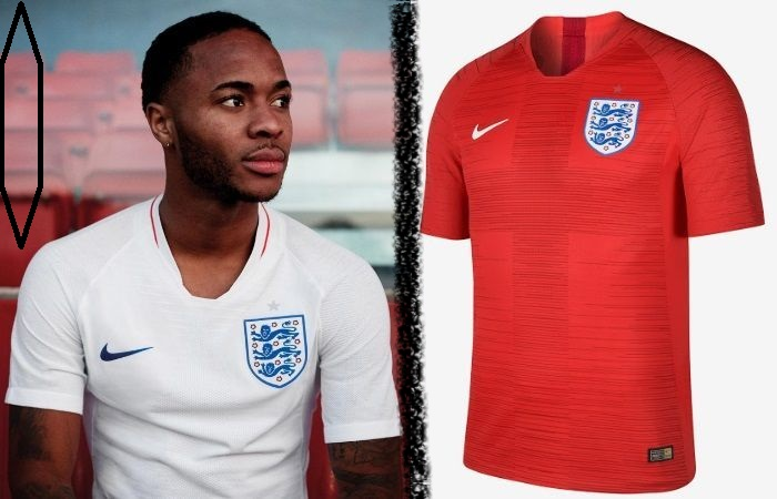 England home and away kits - jersey for world cup 2018