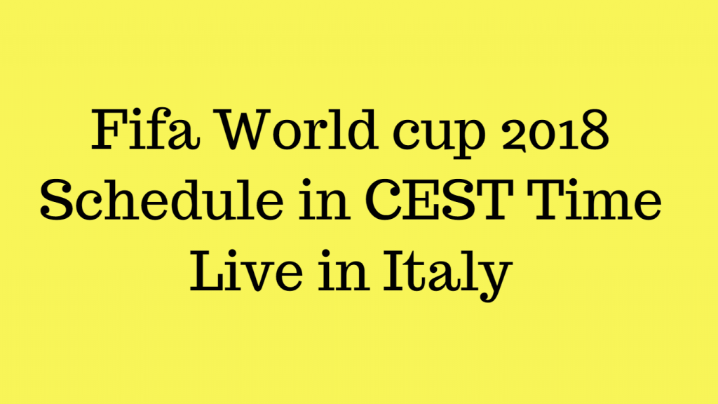 Fifa world cup live in italy
