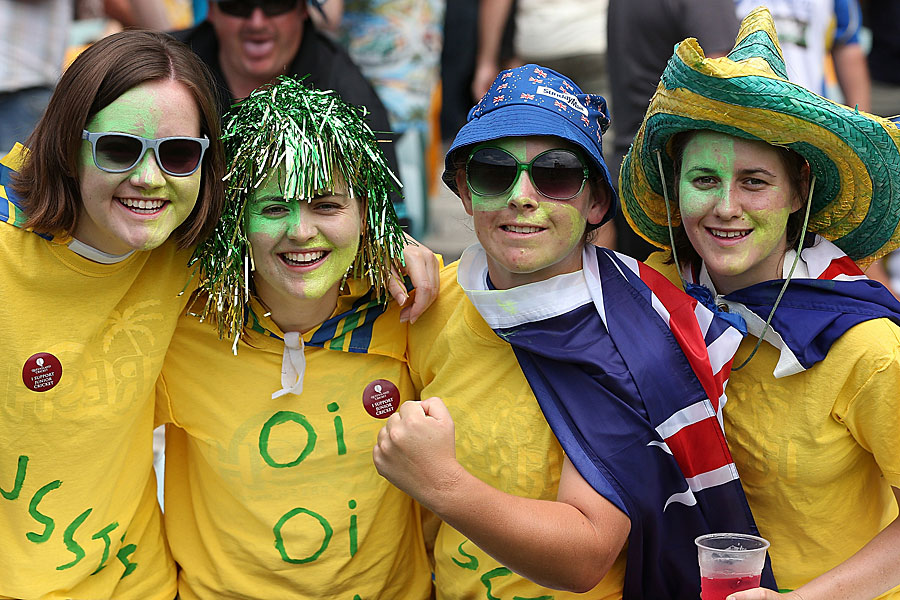 Football Crazy Australia fans support their country in world cup