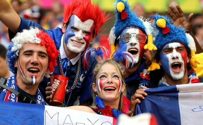 France Fans Happy Faces with flag of country