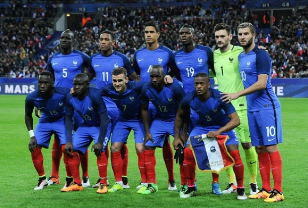 France Football players ready for the world cup battle at Russia