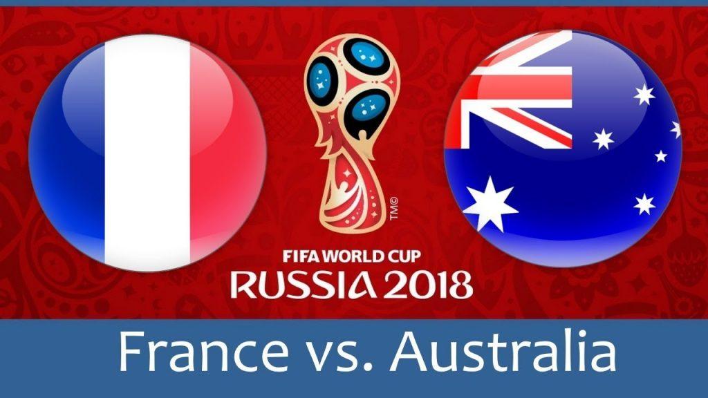 France vs Australia 2018 world cup football Game of 16 June
