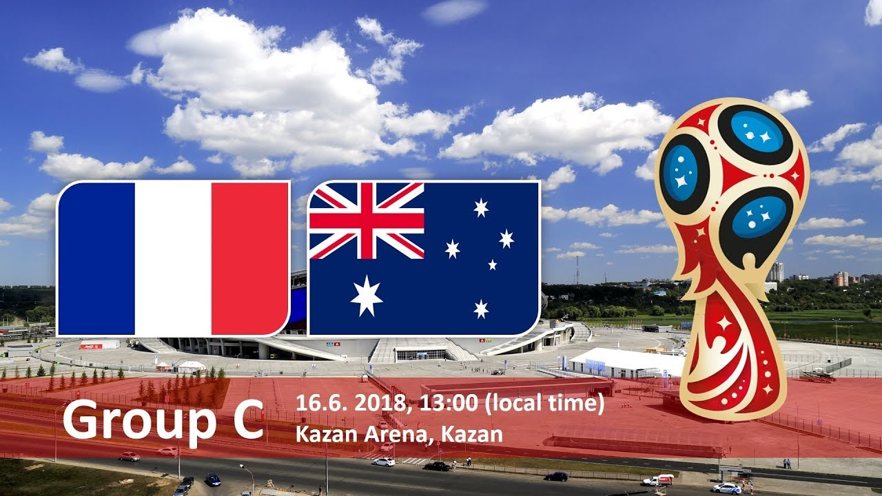 France vs Australia Soccer Match hd photos with both team flag and timing info
