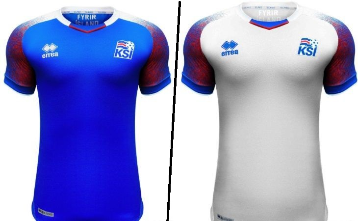 Iceland home and away kits - jersey for world cup 2018
