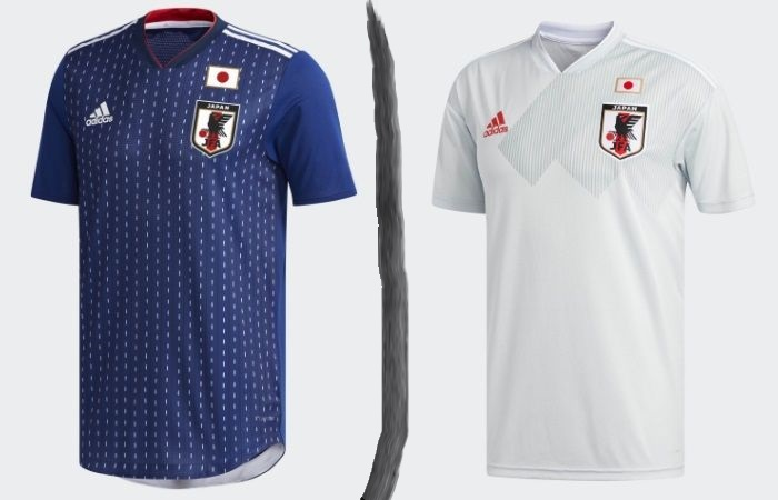 Japan home and away kits - jersey for world cup 2018