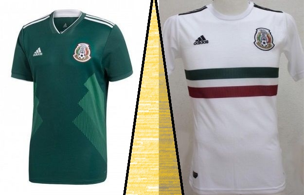 Mexico home and away kits - jersey for world cup 2018