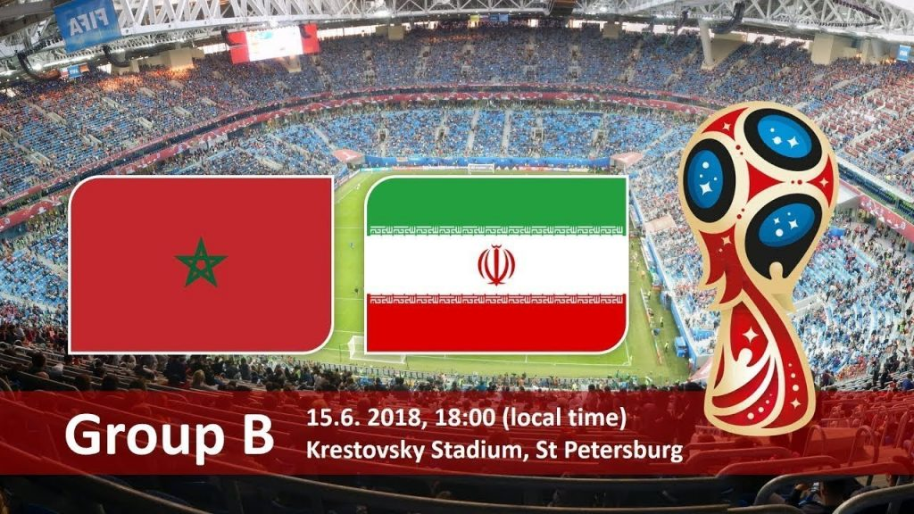 Morocco vs Iran 2018 world cup football Game of 15 June