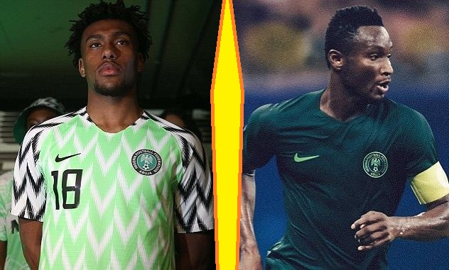Nigeria home and away kits - jersey for world cup 2018