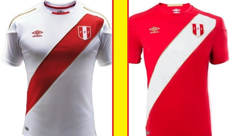 Peru home and away kits - jersey for world cup 2018