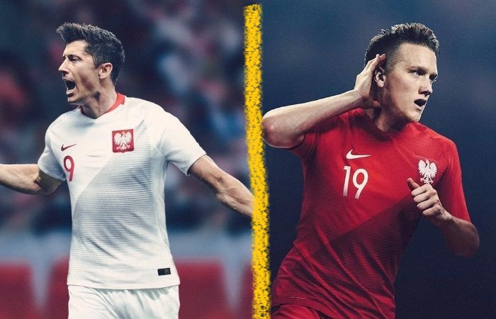 Poland home and away kits - jersey for world cup 2018