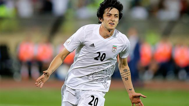 Sardar Azmoun iran team football player