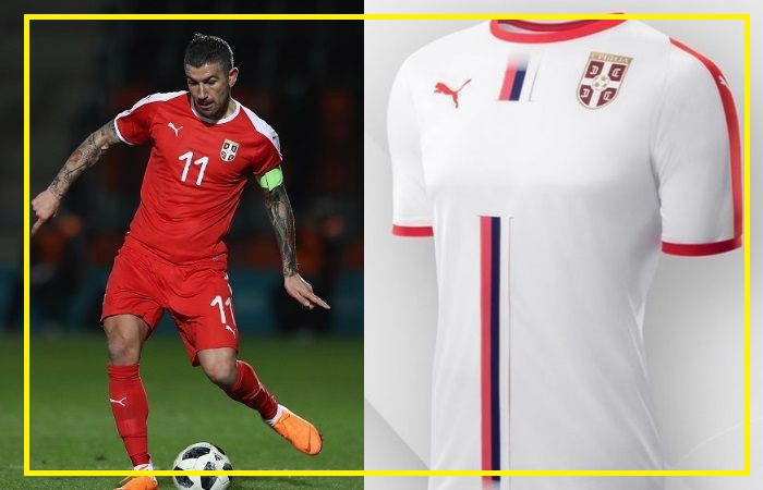 Serbia home and away kits - jersey for world cup 2018
