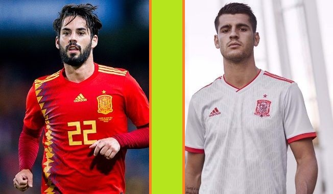 Spain home and away kits - jersey for world cup 2018