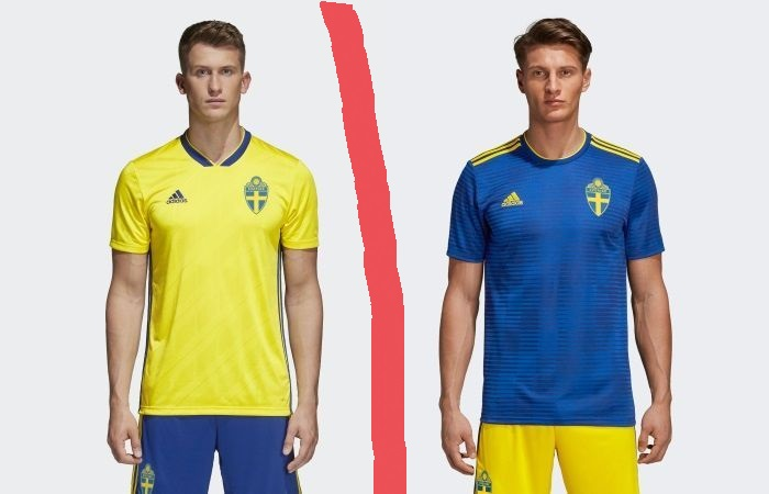 Sweden home and away kits - jersey for world cup 2018