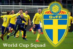 Sweden Squad for World cup 2018, 23-Men Possible Starting Line up