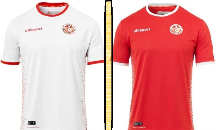 Tunisia home and away kits - jersey for world cup 2018
