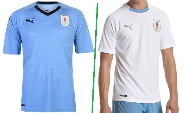 Uruguay home and away kit - jersey for world cup 2018